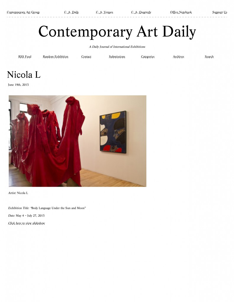 Nicola L Contemporary Art Daily 1